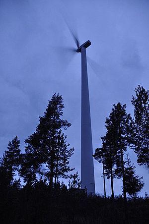 Ljusterö - The present wind turbine on the island Ljusterö in 2014