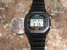 cd0819d37b4 A Casio G-Shock DW-5600C-1V modo regular.