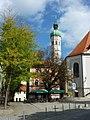 Dachau. Pfarrkirche St. Jakob und Augsburger Str - geo.hlipp.de - 22056.jpg