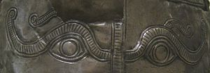 "Helmet of Iron Gates - The ""apotropaic"" eyes motif Iron Gate helmet"