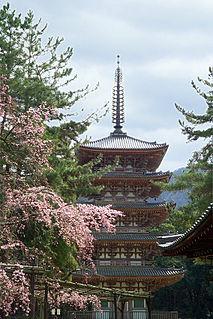 Shingon Buddhist temple in Fushimi-ku, Kyoto, Japan