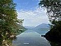 Dalla Baia delle Sirene sul Lago di Santa Croce, Farra d'Alpago (BL).jpg