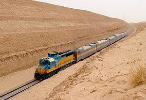 Saudi Railways Organization - Passenger train on the Dammam-Riyadh Line.