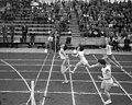 Damesathletiek Nederland tegen Duitsland in Enschede E Ort , R Bronsack , M , Bestanddeelnr 912-7161.jpg