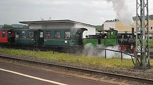 Wächtersbach station - Steam train on the Bad Orb–Wächtersbach line in Wächtersbach station