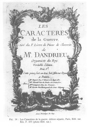 Jean-François Dandrieu - Jean François Dandrieu: Les caractères de la guerre