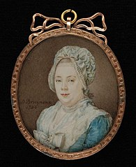 Portretminiatuur van Amelia Maria Edle Goll van Franckenstein-Diepen