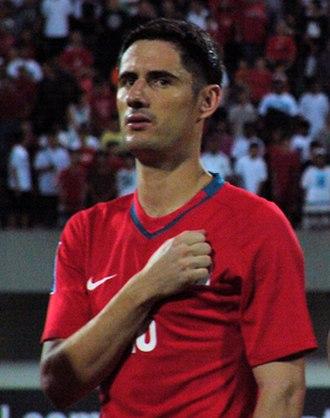 Daniel Bennett (footballer) - Image: Daniel Bennett anthem 20080326