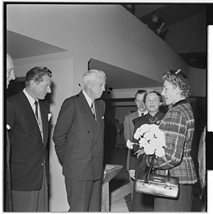 Maurice Pate - Maurice Pate (centre) with Princess Astrid, Mrs. Ferner and Danny Kaye