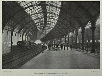 North Eastern Railway (United Kingdom) - Darlington Bank Top Station, opened in 1887