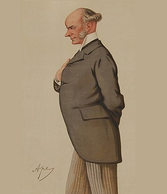 """David Plunket, 1st Baron Rathmore - """"hereditary eloquence"""" Plunket as caricatured by Ape (Carlo Pellegrini) in Vanity Fair, May 1880"""