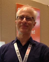 David Rudman Cookie Monster puppeteer at SXSW 2015 (cropped).jpg