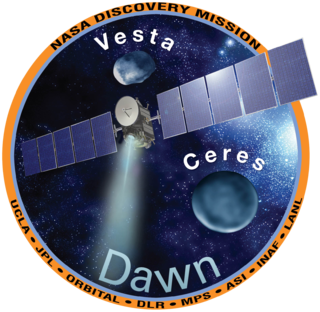 <i>Dawn</i> (spacecraft) Ninth mission of the Discovery program; orbital reconnaissance of the main belt asteroids 4 Vesta and 1 Ceres