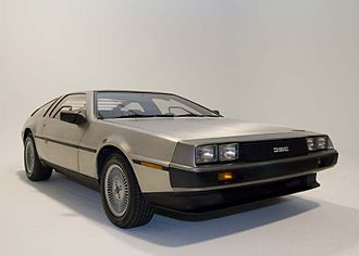 DMC DeLorean - A DeLorean with the gull-wing doors closed.