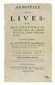 De Moivre - Annuities upon lives, 1731 - 134.tif
