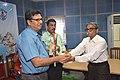 Debasish Sinha Receiving Memento after Delivering lecture - Medical Disorders in Sports Personnel - SPORTSMEDCON 2019 - SSKM Hospital - Kolkata 2019-03-17 3718 3494.JPG