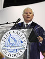Defense.gov News Photo 100523-F-6655M-004 - Secretary of Defense Robert M. Gates speaks to students from Blue Valley Northwest High School during their graduation ceremony at Kemper Arena in.jpg