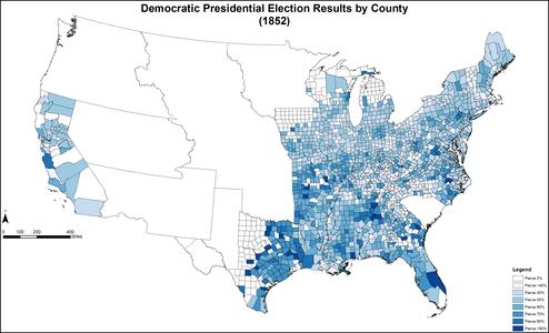DemocraticPresidentialCounty1852Colorbrewer