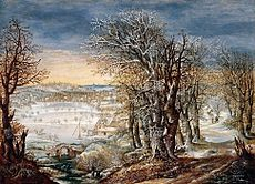 Denis van Alsloot - Winter Landscape in the Fôret de Soignes, with the Flight Into Egypt - WGA00197.jpg
