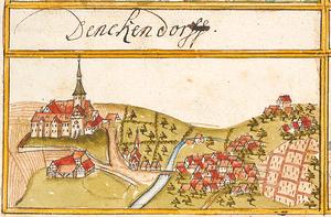 Denkendorf, Baden-Württemberg - Denkendorf in 1683, Forest book Andreas Kieser