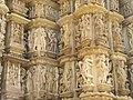Devi Jagdambi Temple Khajuraho - Outer Wall 04.JPG