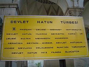 Devlet Hatun - Image: Devlet Hatun Turbesi 3