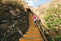 Diamond head summit trail, first staircase - panoramio.jpg
