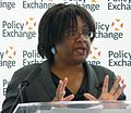 Diane Abbott MP delivering her keynote speech 'Children and public health putting families at the heart of policy' (cropped).jpg
