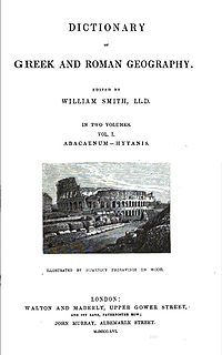 <i>Dictionary of Greek and Roman Geography</i> classical dictionary
