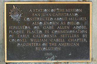 Diego Sepúlveda Adobe - Historical plaque at the adobe