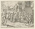 Dina door Sichem overweldigd en verkracht Geschiedenis van Dina en Sichem (serietitel), RP-P-1904-3329.jpg