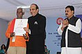Dinesh Trivedi presented the 56th Railway Week National Awards for Outstanding Services-2011, at a function, in New Delhi on November 21, 2011. The Minister of State for Railways, Shri Bharatsinh Solanki is also seen (1).jpg