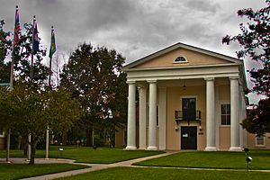 National Register of Historic Places listings in Dinwiddie County, Virginia - Image: Dinwiddie County Courthouse 9855