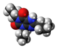Dipropylcyclopentylxanthine 3D spacefill.png