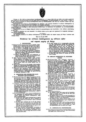 Directives for Military Officers and Ministry Officials upon an Attack of Norway - Direktiver for militære befalingsmenn og militære sjefer ved væpnet angrep på Norge, also known as the poster on the wall