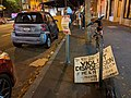Discarded pro-Palestinian protest sign on Valencia St, San Francisco, CA.jpg
