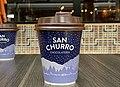 Disposable paper coffee cups San Churro Chocolateria, 2020.jpg