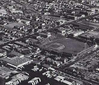 Oaks Park (stadium) - Aerial photograph of Oaks Park