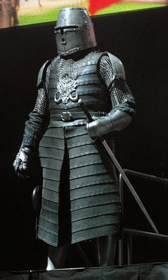 Robot of Sherwood - The Sheriff of Nottingham's Knights, shown here at the Doctor Who Symphonic Spectacular.