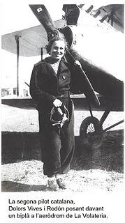 Pioneering Spanish female aviator