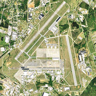 Donaldson Air Force Base - USGS 2006 airphoto