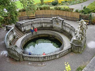 Danube - The historical source of the Danube in Donaueschingen.