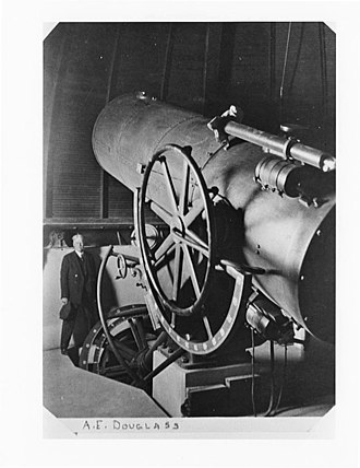 A. E. Douglass - Image: Douglass and Steward Telescope 1922