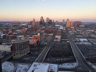 Kansas City, Missouri - View of downtown Kansas City from the Sheraton Kansas City Hotel at Crown Center