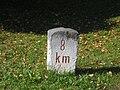 Drenov Gric-former railway kilometer stone.jpg