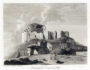 Dundrum Castle - The castle in 1791