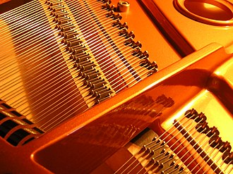 String instrument - The strings of a piano