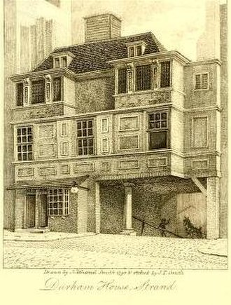 Durham House, London - Durham House, 1806 engraving by John Thomas Smith
