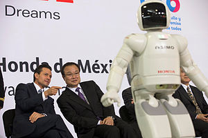Enrique Peña Nieto - Peña Nieto and Takanobu Ito at the inauguration of the Honda plant in Celaya, Guanajuato on 21 February 2014.