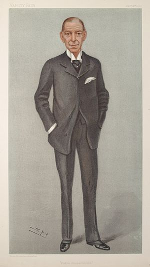 "Hamilton Cuffe, 5th Earl of Desart - ""Public Prosecutions"" The Earl of Desart as caricatured by Spy (Leslie Ward) in Vanity Fair, January 1902"